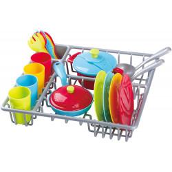 PlayGo Dish Drainer & Kitchen Ware, 23 pcs