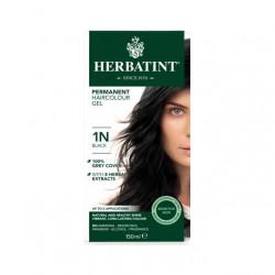 Herbatint Permanent Hair Color Gel 1N Black, 150 ml