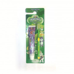 Kodomo 2 in 1 Zig Zag Brush and Toothpaste, Green