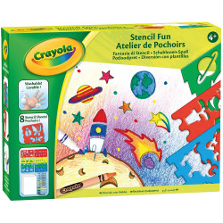 Crayola Creative Set Fantasy, Drawing and Colouring with Stencils