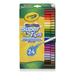 Crayola Supertips Washable Markers 24 Pack