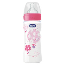 Chicco - Silicone Well-Being Bottle 330ml - Pink