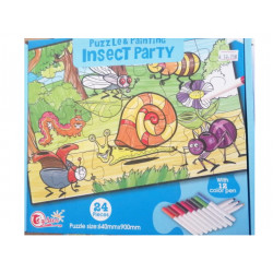 Puzzle and Painting insect party