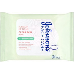 Johnson's Face Care Clear Skin Wipes 25