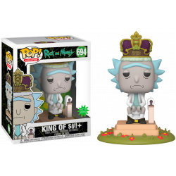 Funko Pop! Deluxe: Rick and Morty - King of $#!+ with Sound