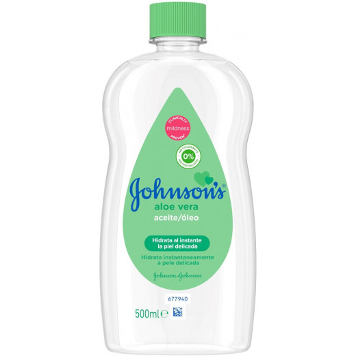 Johnson's Baby Oil with Aloe Vera 500ml