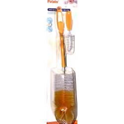 Potato Feeding Bottle Brush (Orange)