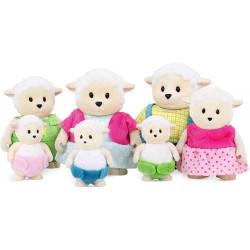 Li'l Woodzeez Large Grandparents Curlycuddles Sheep Family – 7pc
