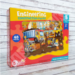 Jigsaw Puzzle Engineering Construction 45 Pieces