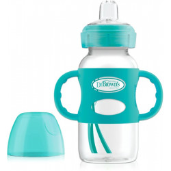 Dr. Brown's 270 ml Wide-Neck Options+ Sippy Bottle w/ Silicone Handles, Green