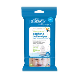 Dr. Brown's Pacifier & Bottle Wipes - 40 wipes