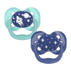 Dr. Brown's Advantage Pacifier - Stage 1, 2-Pack, Blue, 0-6 m