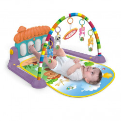 3 in 1 Musical Play Gym Fitness Mat (Multi Coloured & House Theme) (0-36 Months)