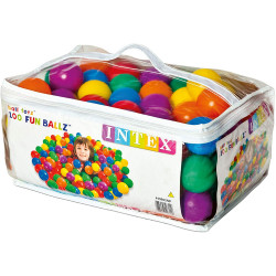 Intex Fun Balls - 100 Multi-Colored Plastic Balls, for Ages 2+