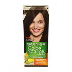 Garnier Color Naturals Nourishing Cream Hair Dye, 4 Brown