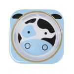 Skip Hop Baby Melamine Plate & Bowl Set, Cow