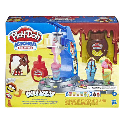 Play-Doh Kitchen Creations Drizzy Ice Cream Playset Featuring Drizzle Compound, 6 Non-Toxic Colors