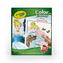 Crayola Disney Princess Color And Sticker Book