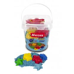 Heroes Bucket Kinetic Sand + Mold Gift, Assortment Colors