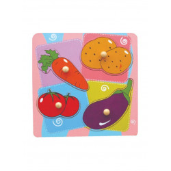 Viga Flat What'S Inside Puzzle-Vegetables