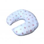 Baby baba Nursing Pillow, White with Stars