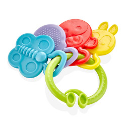 Babyjem Teether Rattle, Green