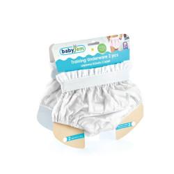 BabyJem 2 Piece Luxury Training Pant, 2 Age White Toilet Training Slip