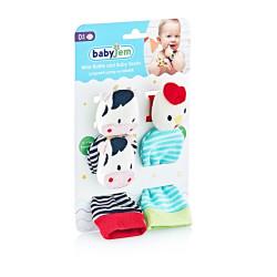 Babyjem Wrist Rattle & Baby Socks Cow & Chicken