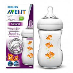 Philips Avent Natural Baby Bottle 260 ml single, Tiger