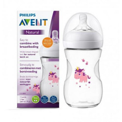 Philips Avent Natural Baby Bottle 260 ml single, Unicorn