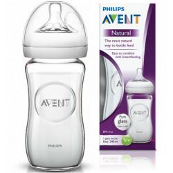 Avent Natural Glass Feeding Bottle (240ml)