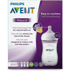 Philips Avent Natural Feeding Bottles 260ml Triple Pack