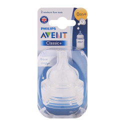 Philips Avent Classic Nipple, Pack of 2, +0 m