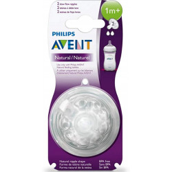 Philips Avent Natural Nipple 2 pcs, +1 m
