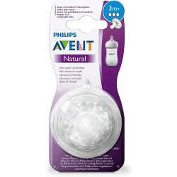 Philips Avent Natural Nipple 2 pcs, +3 m