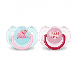 Philips Avent Soother I Love Baba 6-18 m, Pink