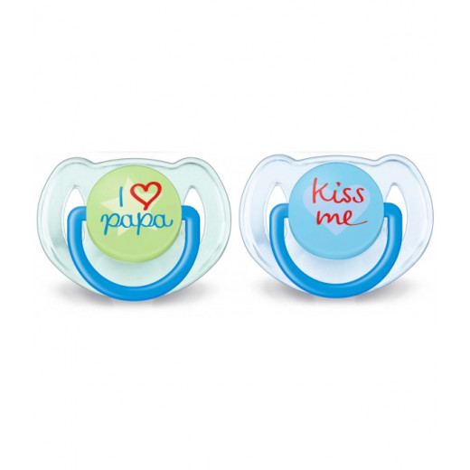 Philips Avent Soother I Love Baba 6-18 m, Blue