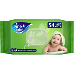 Fine Baby, Wet Wipes, with Aloe Vera & Chamomile Lotion, 54 wipes