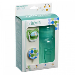 Dr. Brown's Gift Set (Wide Neck Bottle /Pacifier /Clip) - Green