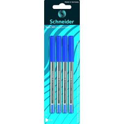 Schneider Ballpoint Pen Schneider Tops 505 M Blister, 4 Pieces Blue
