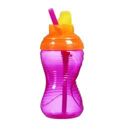 Munchkin Mighty Grip® Flip Straw Cup 10oz, Pink