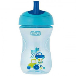 Chicco First Straw Trainer No Spill Sippy Cup 12M+, 9oz, Blue