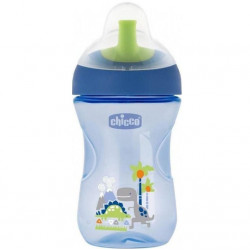 Chicco First Straw Trainer No Spill Sippy Cup 12M+, 9oz, Green
