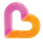 Munchkin Ice Heart Gel Teether - Pink & Orange