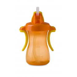 Pigeon Petite Straw Bottle 150ml Hanging Type, Orange