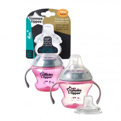 Tommee Tippee First Sips Soft Transition Cup 150 ml, Pink