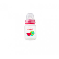 Pigeon Decorated Bottle - (Slim Neck) 120 ml Fruits 1PC - Pink