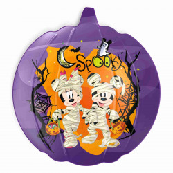 Zak Designs Mickey And Minnie Halloween 8in Pumpkin Plate
