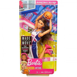 Barbie® Made to Move™ Basketball Player, Brunette with Basketball