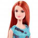 Mattel Barbie Modern Dresses-Blue Dress, Redhead Doll
